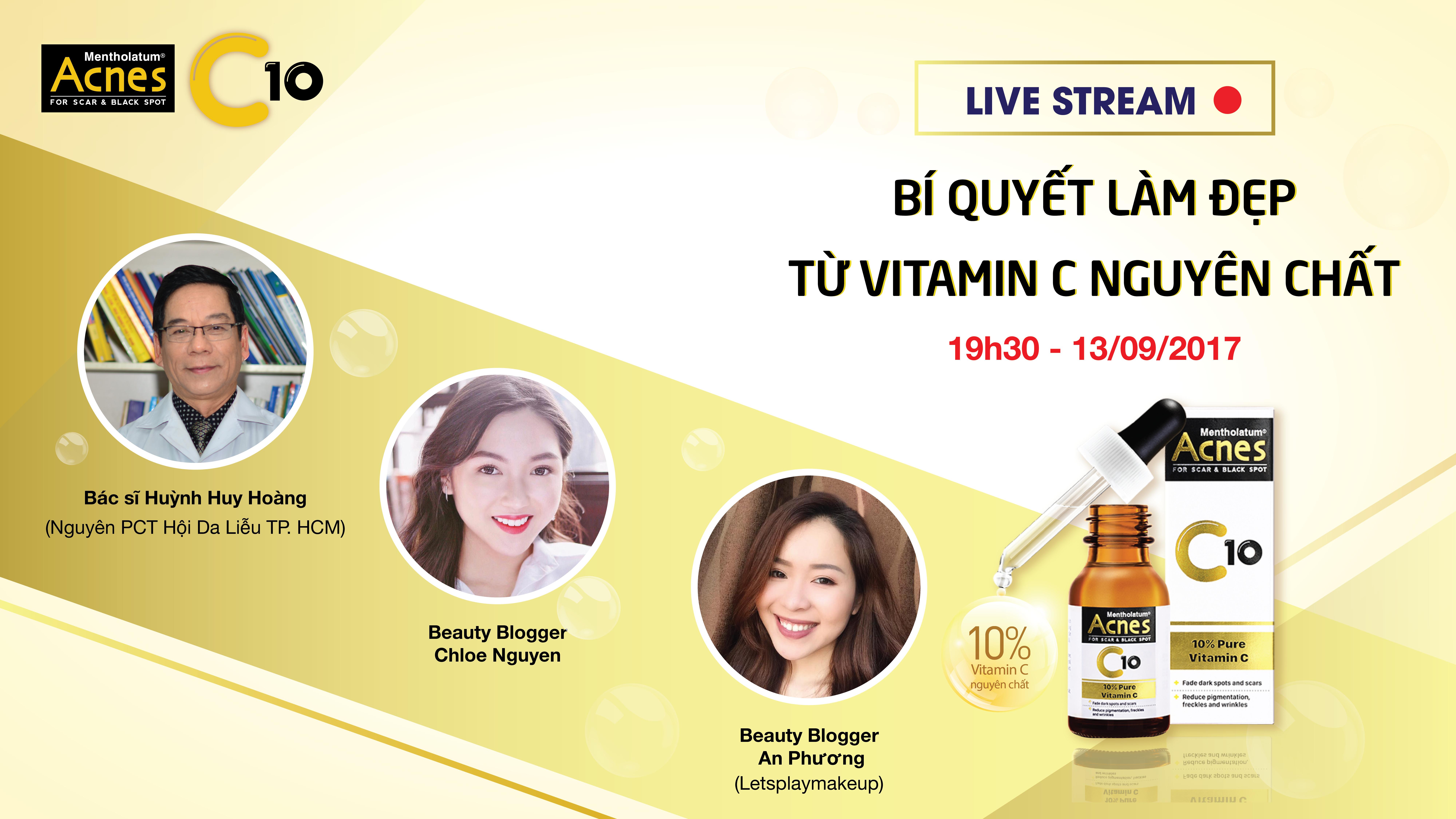 [Livestream] Làm đẹp từ Vitamin C nguyên chất